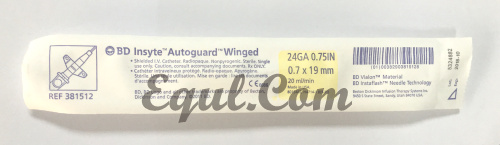 381512 BD IV Winged Catheter